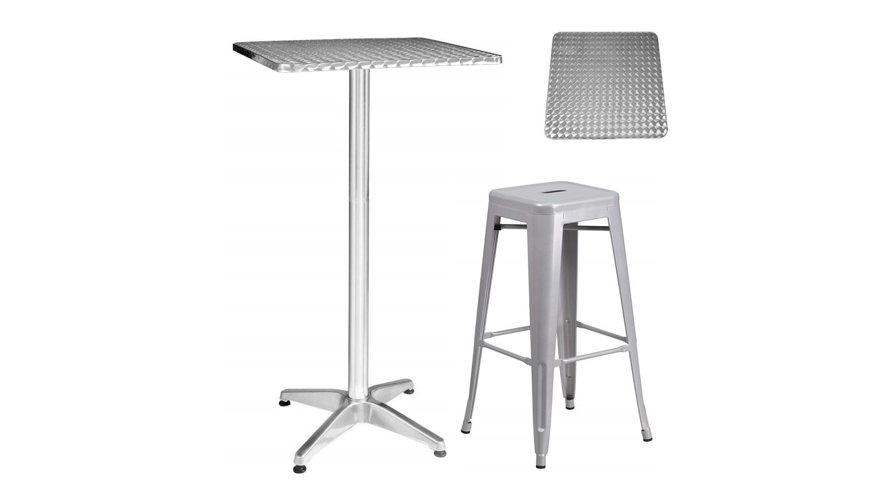 259 Square Metal Cocktail Tables