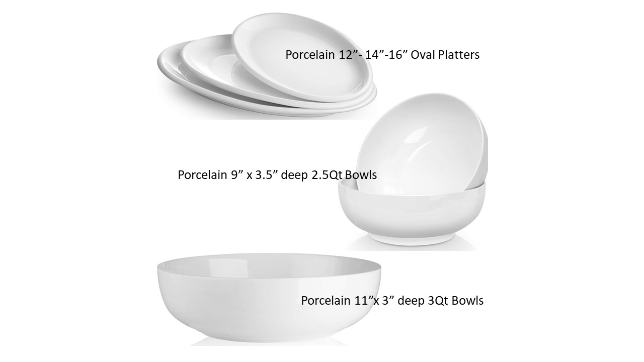China Bowls and Platters