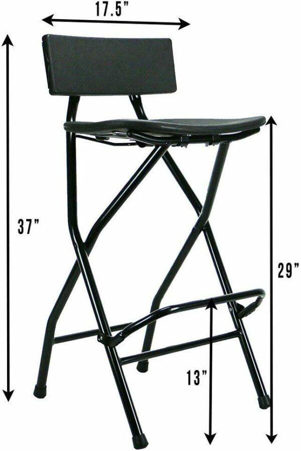 TitanPRO Folding Bar Stool with Backrest 2