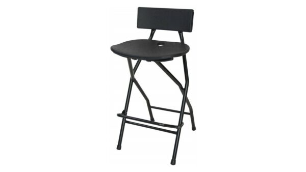 TitanPRO Folding Bar Stool with Backrest