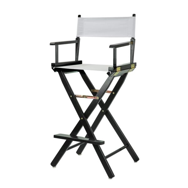 Directors Chairs White with Black Frame for rent