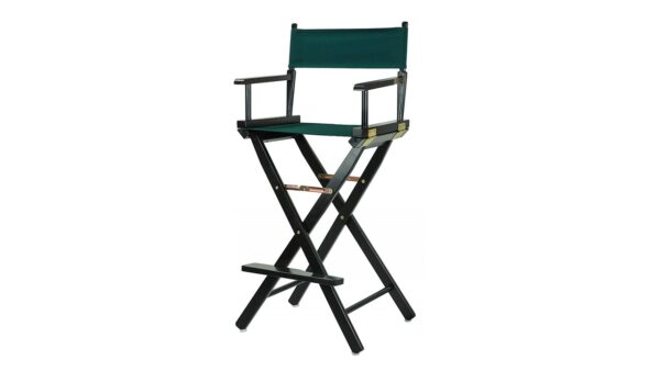 Directors Chair Black Frame-with Hunter Green for rent