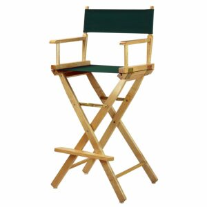 "30"" Director's Chair Natural Frame-with Hunter Green Canvas, Bar Height"