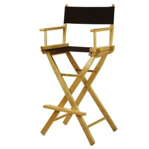 601 Directors Chairs Black-Natural Frame