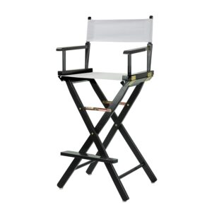 "Director's Chair ,black Frame/white Canvas,30"" - Bar Height"