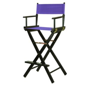 "Director's Chair ,black Frame/purple Canvas,30"" - Bar Height"