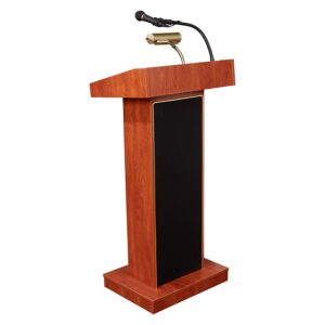 A Podium Lectern Cherry With Mic