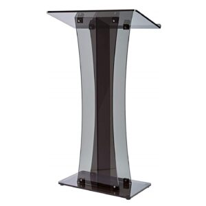 Acrylic Podium See Through Black Lectern for Rent