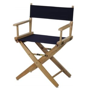 Directors Chairs 18' Deck Wood Frame-with Black Canvas