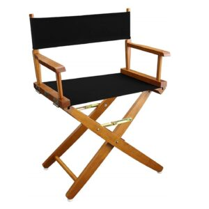 Directors Chairs 18' Natural Frame-with Black Canvas