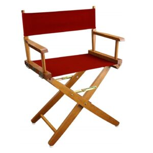 Directors Chairs 18' Natural Frame-with Red Canvas