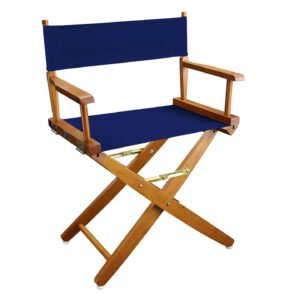 Directors Chairs 18' Natural Frame-with Royal Blue Canvas