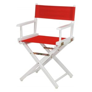 Directors Chairs 18' White Frame-with Red Canvas