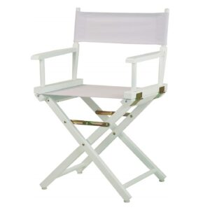 Directors Chairs 18' White Frame-with White Canvas