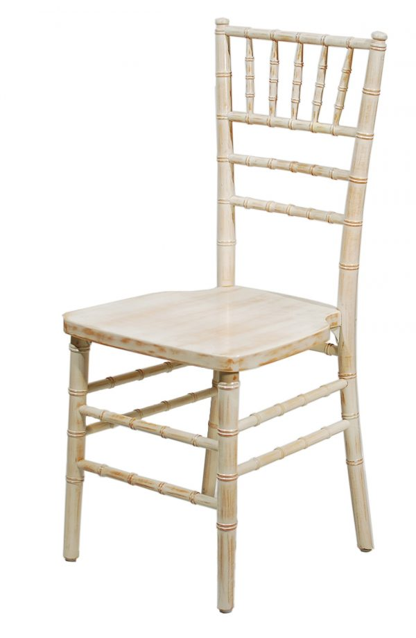 White wash ballroom chair for rent