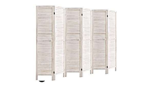 Panel Screens And Room Divider white wash
