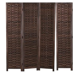 Panel Screens And Room Divider dark brown