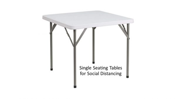Tables for 2 for social distancing for rent
