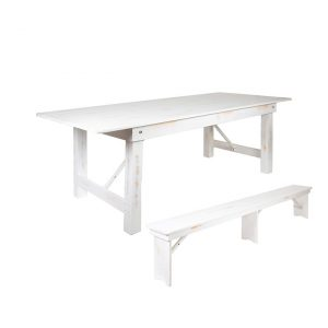 214 Farm Tables And Benches White