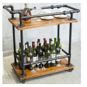 Bar Cart Rustic