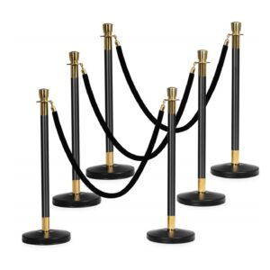 Stanchion Black & Gold for rent