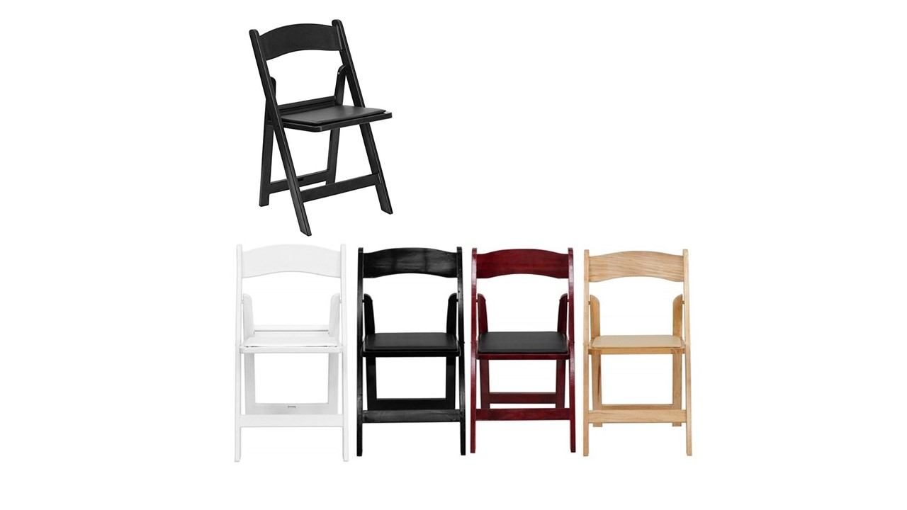 800 Resin Folding Chairs Padded Seat