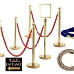 A1 Gold Stanchion And Ropes - Gold Stanchion