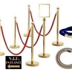 A1 Gold Stanchion And Ropes