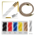 A2 Stanchion Ropes Braided Gold And Chrome Tips - stanchion-ropes-braided - yellow