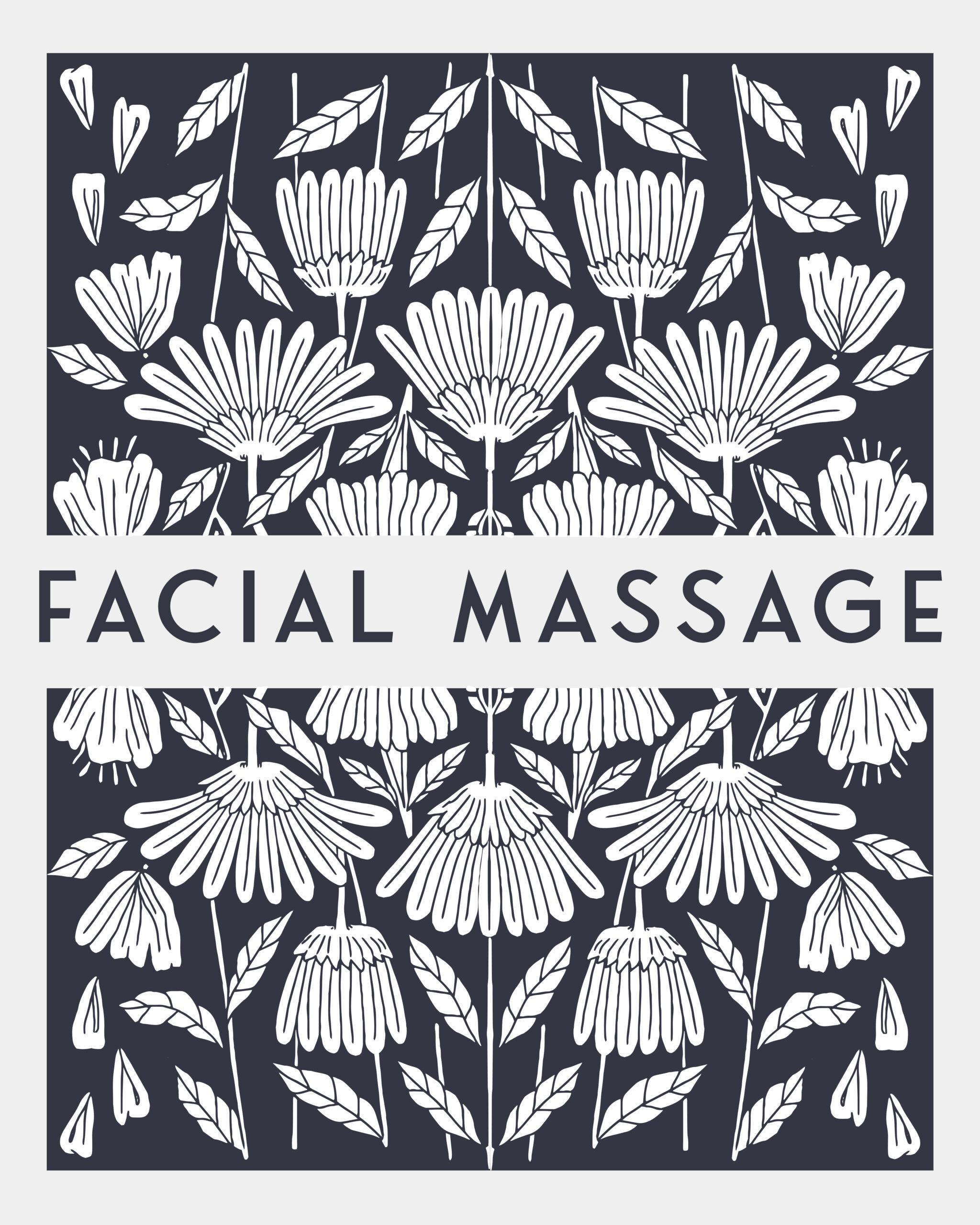 facial massage sign