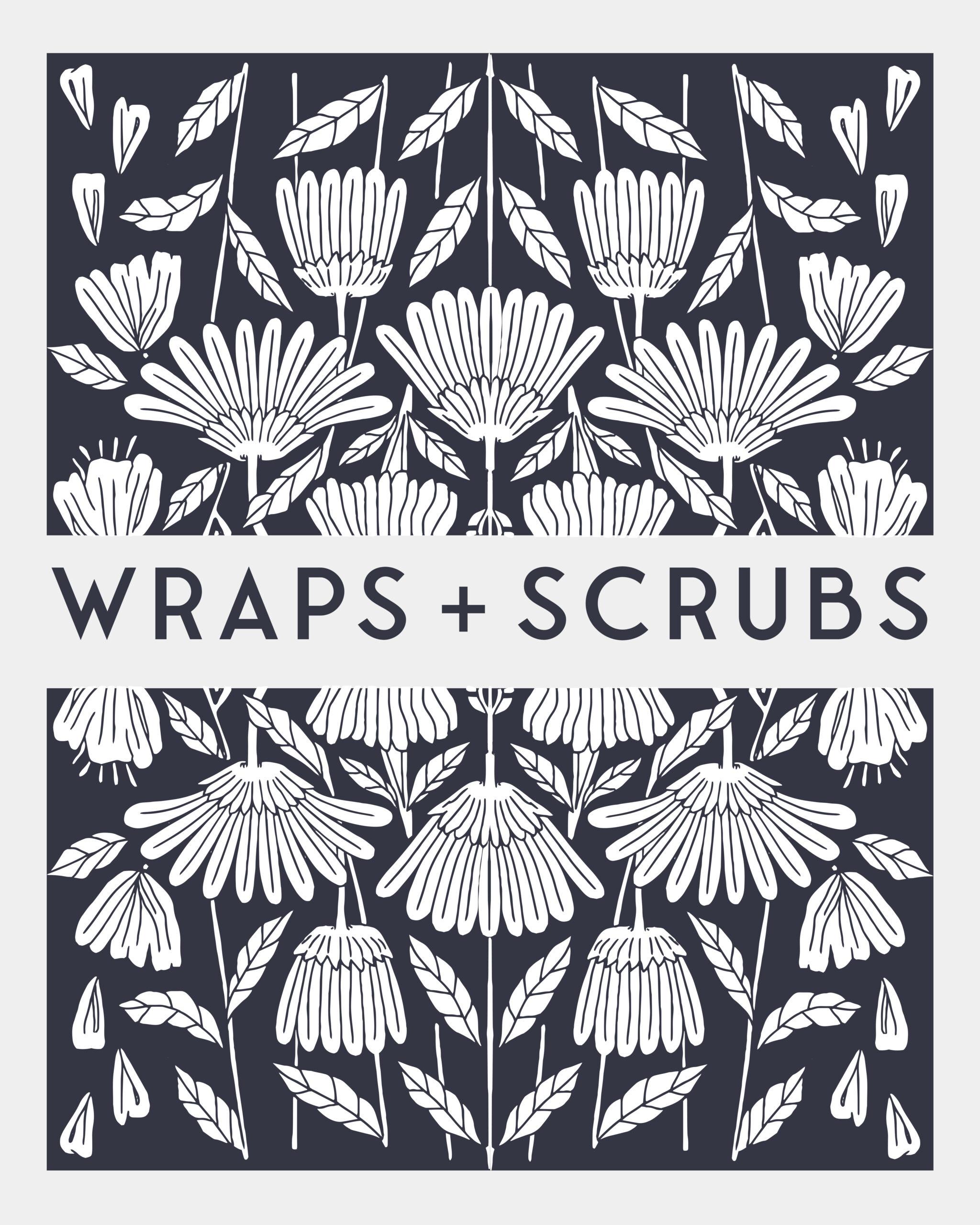 wraps & scrubs sign