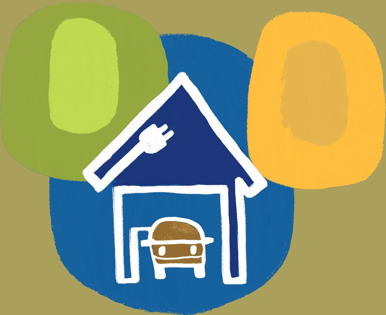 At-home charging illustration