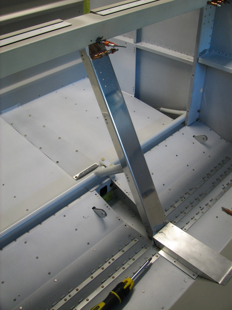 Center flap support