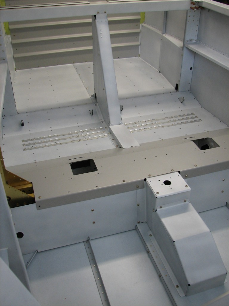 Interior parts primed and installed