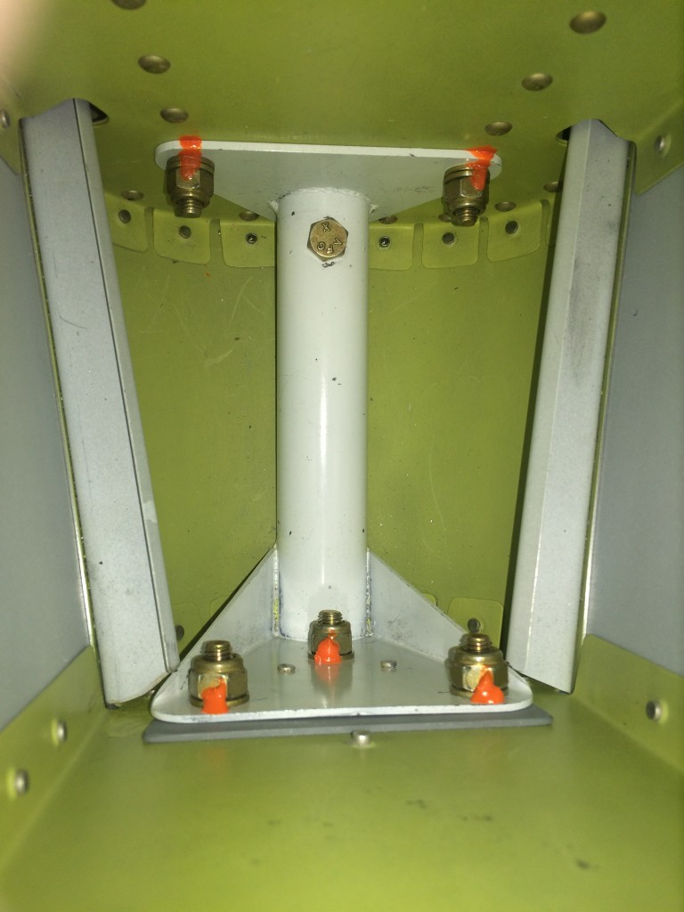 Tailwheel fitting bolted and torqued