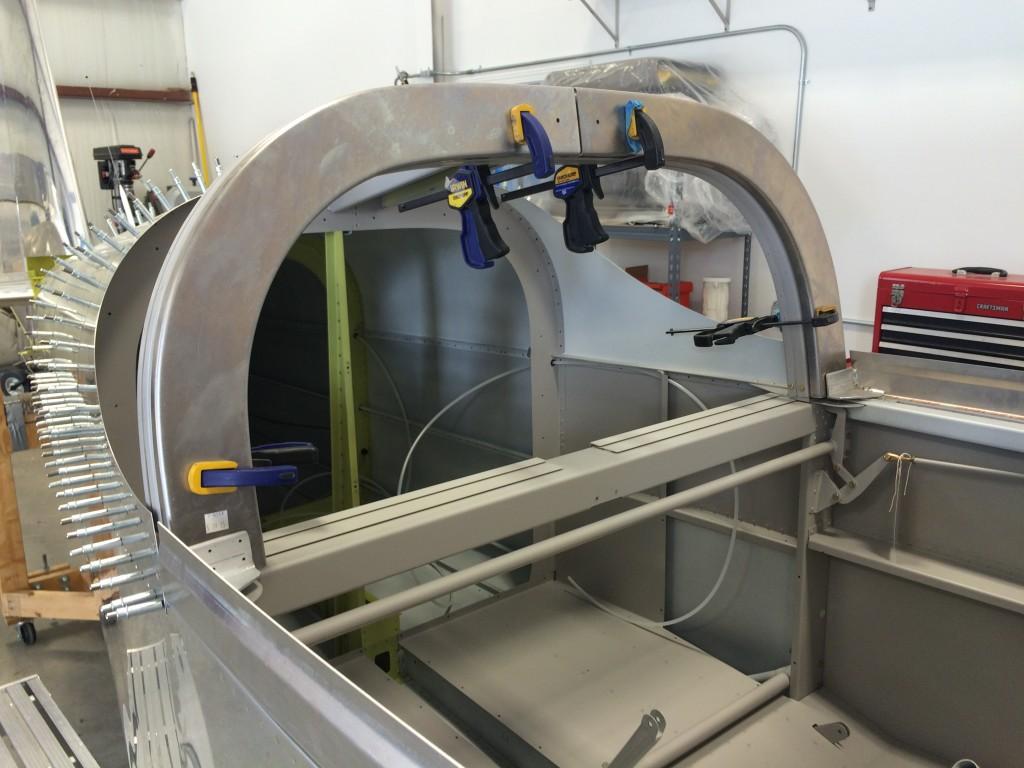 Rear canopy frame
