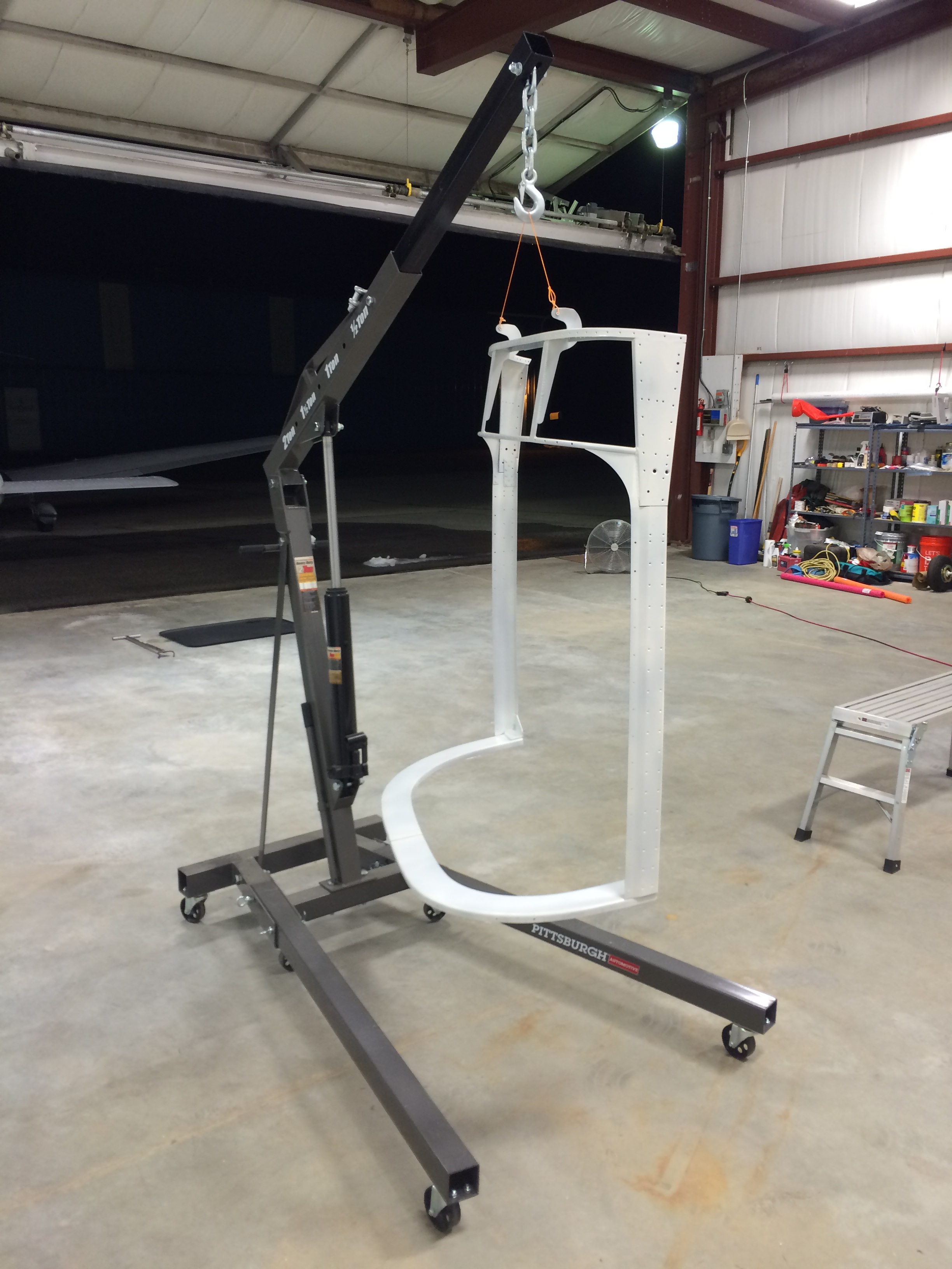 Primed canopy frame