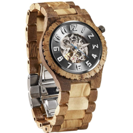 JORD Wooden Watches for Men – Dover Series With Automatic Movement | Acacia & Olive