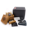Jord wooden watch conway series with blue chronograph with box set
