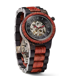 JORD Wooden Watches for Men - Dover Series With Automatic Movement | Ebony & Rosewood