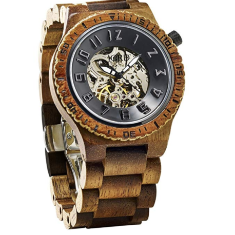 jord koa wood automatic watch