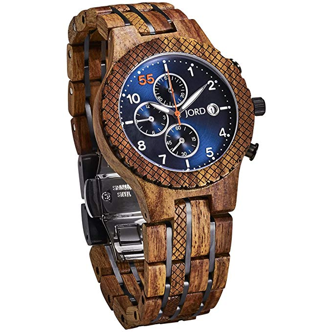 jord conway chronograph automatic wooden watch