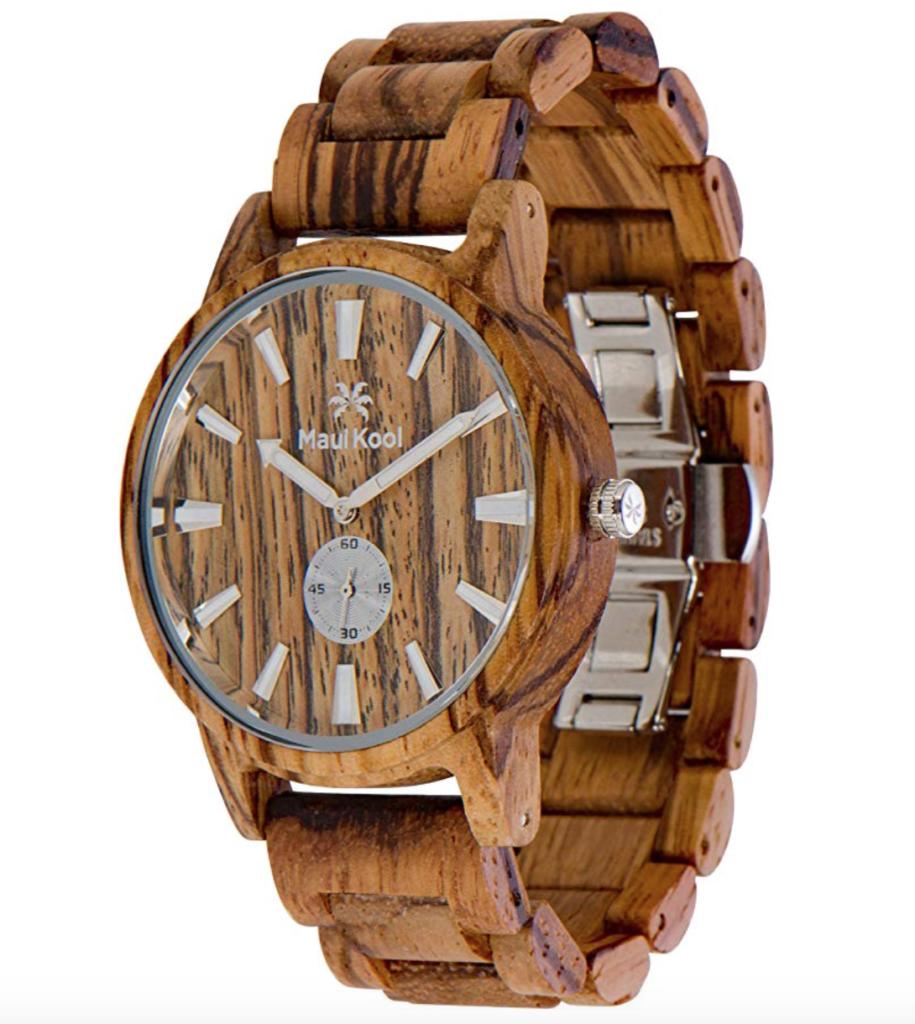 men's wooden watch maui kool