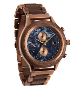 Treehut Rise Watch With Bronze And Blue Marble Face
