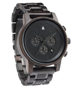 Treehut North Black Ebony Wood Watch