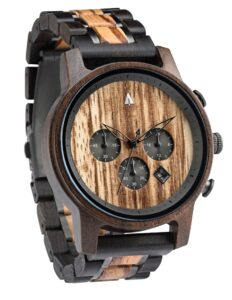 Treehut North Ebony & Zebrawood Watch