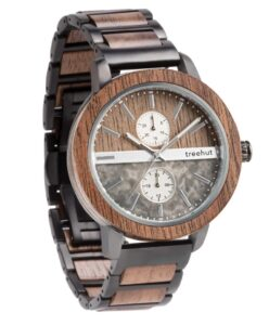 treehut tao grey marble wooden watch