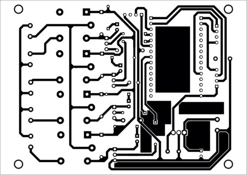 PCB layout of the IoT-based smart home controller