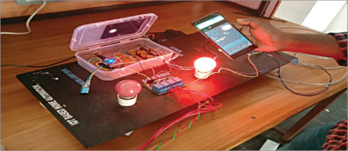 Authors' prototype of the IoT-based smart home controller