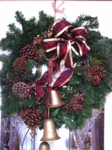 Christmas Wreath with Bells to Greet You